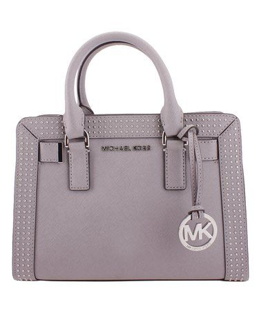 de95c98987d2 Look what I found on #zulily! Pearl Gray Micro Stud Satchel by ...