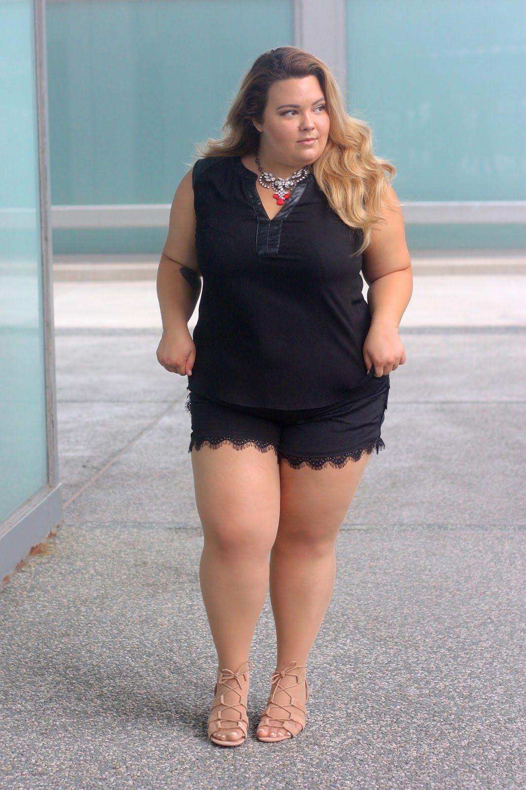 Plus size lace shorts, natalie craig, chicago, natalie in the city ...