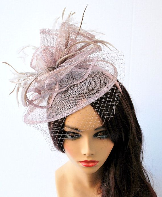 Fascinator Womens Tea Party Hat Hat with Veil by QueenSugarBee British Hats 6c85fd0dff2b