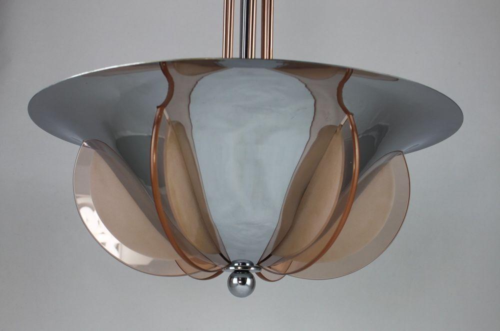 Edle art deco lampe hängelampe petitot stil art deco lampen