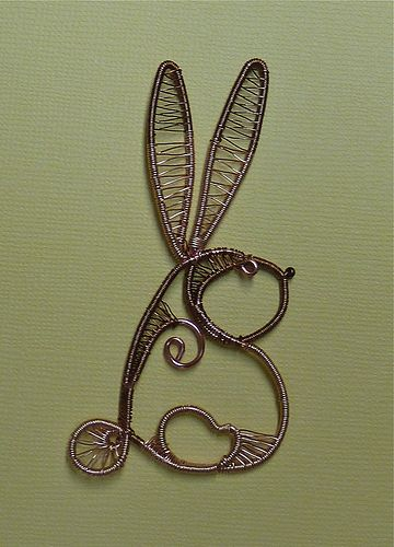 Wire Doodle Rabbit before Polymer Clay   Wire weaving, Gauges and ...