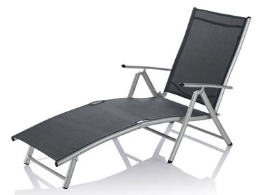 Ligstoel Tuin Aluminium : Aluminium ligstoel grijs tuin lidl