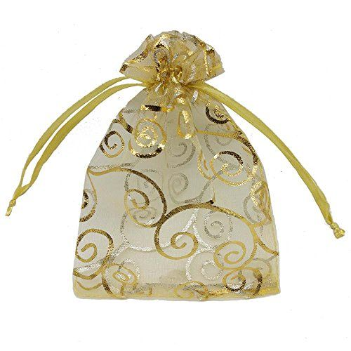 Ankirol 100pcs Sheer Organza Favor Bags For Wedding Baby Shower - baby shower samples