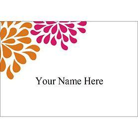 Templates Wedding Shower Pink Orange Flowers Name Badge Label - Avery name badge labels template