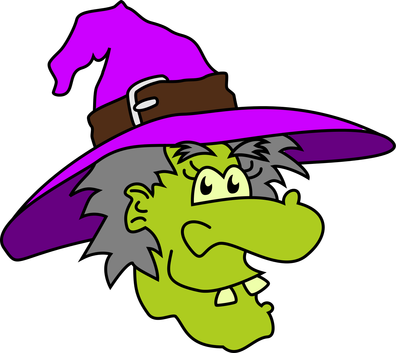 halloween witch clip art [ 1344 x 1200 Pixel ]