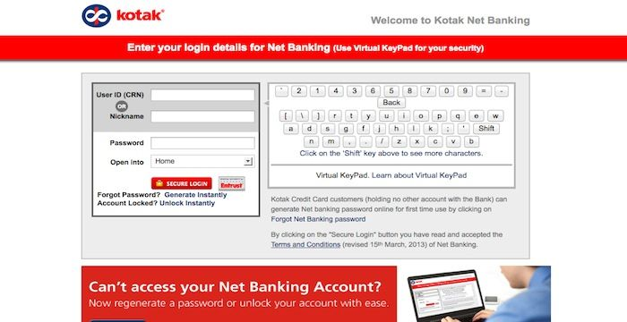 Kotak Bank Login | Login Archives | Login page, Banking