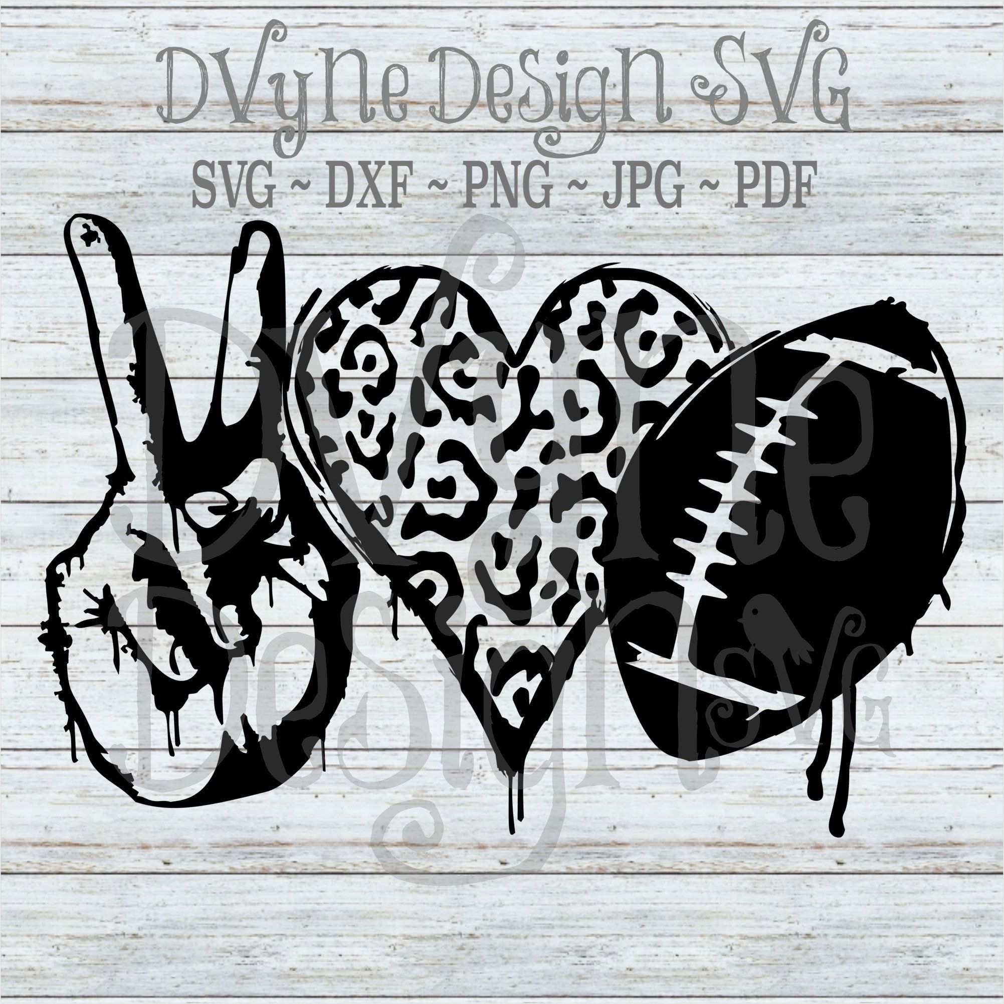 Peace Love Football Svg For Silhouette Or Cricut Grunge Peace Etsy In 2021 Peace And Love Svg Grunge
