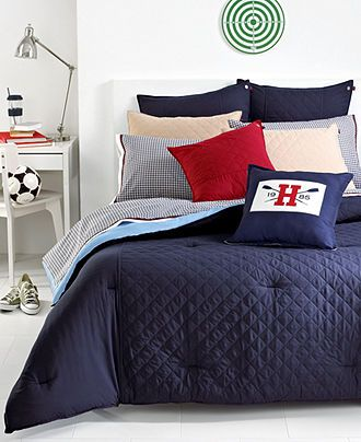 Tommy Hilfiger Bedding, Midnight Hilfiger Prep Collection - Bedding Collections - Bed & Bath - Macy's $99.99