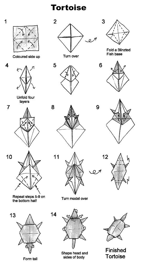image result for origami turtle free printables