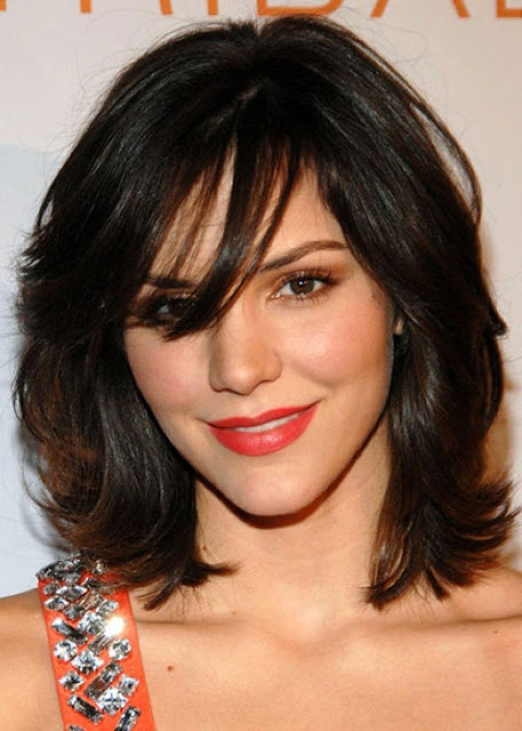Medium length layered hairstyles with bangs short hair pinterest