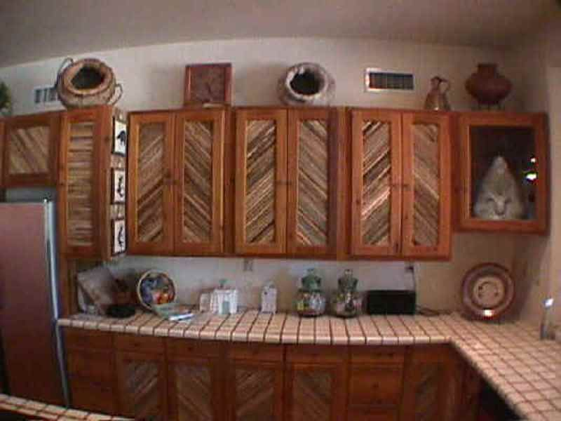 High Quality SW Kitchen Cabinets With Saguaro Rib Cactus Doors. Saguaro Ribs Are In A  Herring Bone Pattern. Hand Made Ceramic Mexican Tile Is Used In The SW  Kitchen ...