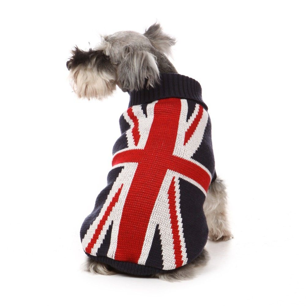 Little Pet Planet Union Jack Flag Pet Dog Sweater Us 17 99 Http Www Littlepetplanet Com Clothing Sweaters Union Jack Dog Sweaters Pet Sweater Dog Clothes
