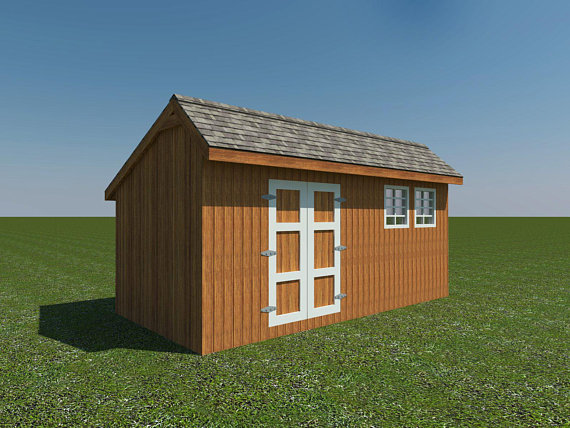 Saltbox Roof Storage Shed Plans Diy Backyard Garden Shed Barn Building 10 X 20 Ben Stone