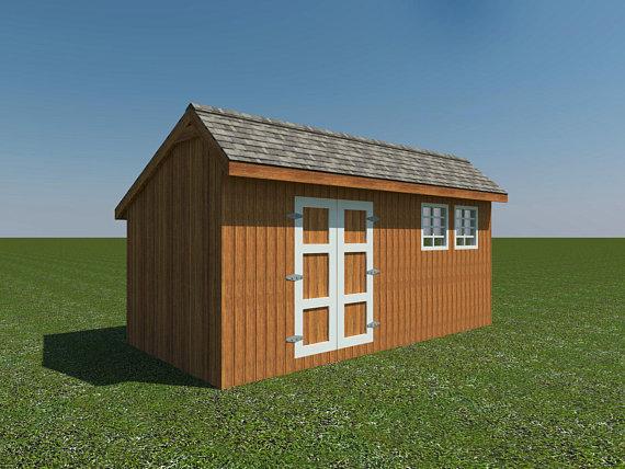 Saltbox Roof Storage Shed Plans Diy Backyard Garden Shed Barn Building 10 X 20 Ben Stone