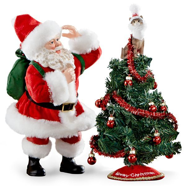 Attractive Lenox Christmas Tree Toppers Part - 10: Possible Dreams 2-piece Tree Topper Figurine By Lenox Santa Is Quite  Surprised To Find