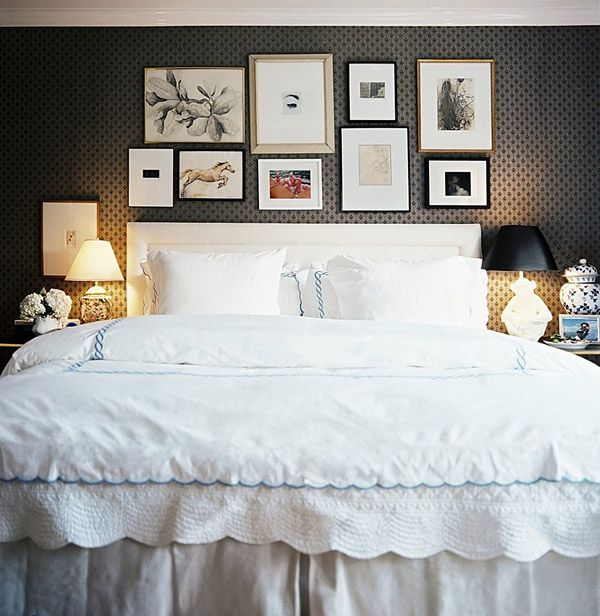 Ashley Putnam bedroom gallery wall Lonny