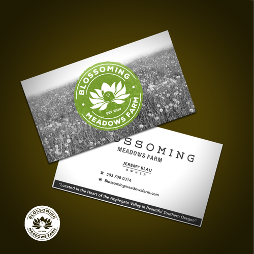 Blossoming Meadows Farm - create an eye catching logo for an organic farm company We are a 100 certified organic naturally sustainable farm that specializes in medical cannabis production as well as...