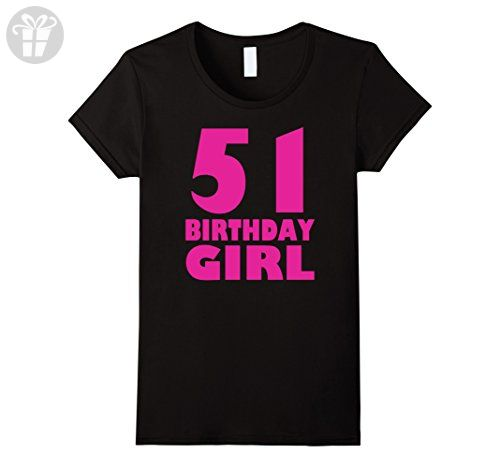 Womens Women's 51th Birthday Girl 1966 Pink Funny T-Shirt Small Black - Birthday shirts (*Amazon Partner-Link)