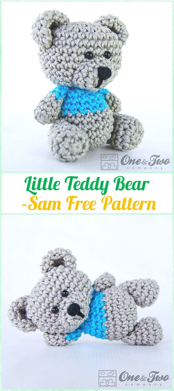 Amigurumi Crochet Sam, the Little Teddy Bear Free Pattern ...