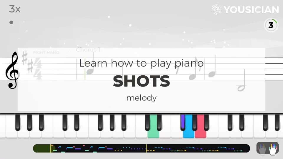 Choose a piano exercise for a preview of how Shots by