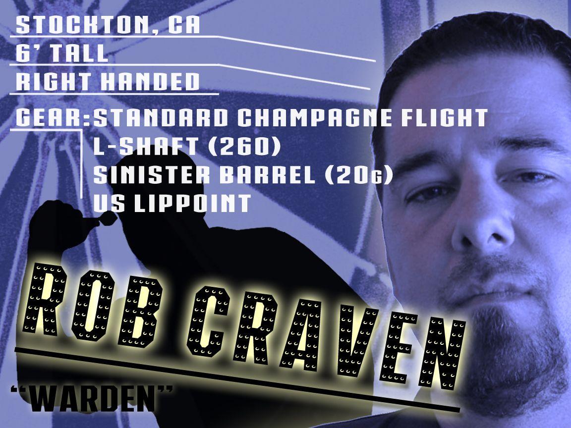 """Rob """"Warden"""" Craven Darts, Dart board"""