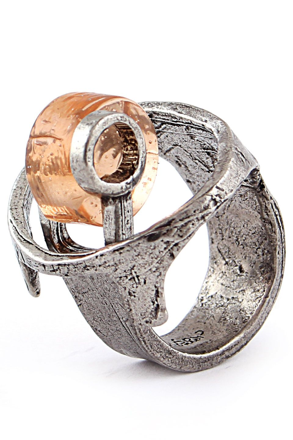 wood rings napkin rhino pewter ring