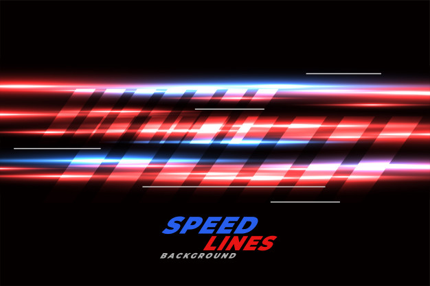 Download Speed Racing Background With Red And Blue Glowing Lines For Free