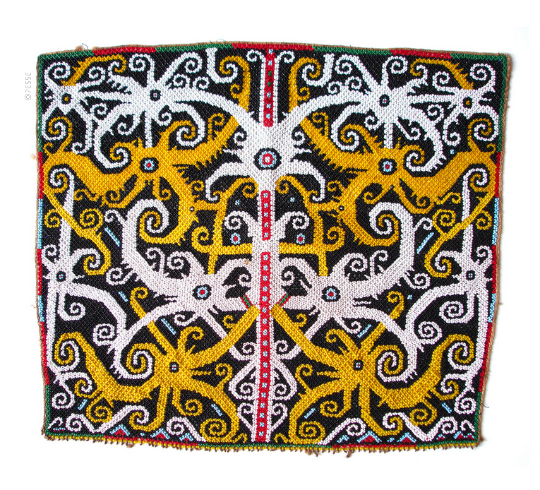 Beadwork Used To Decorate A Baby-carrier. Kenyah-Kayan