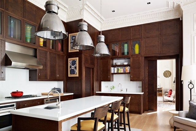 Don\u0027t be afraid of the dark Dark wood kitchens, Kitchen cupboards