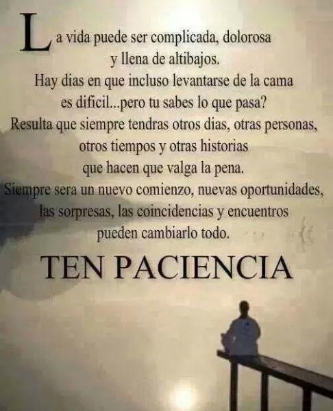 #paciencia