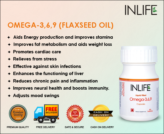 Buy Flaxseed Oil Omega 3 6 9 Fatty Acids Capsules In India
