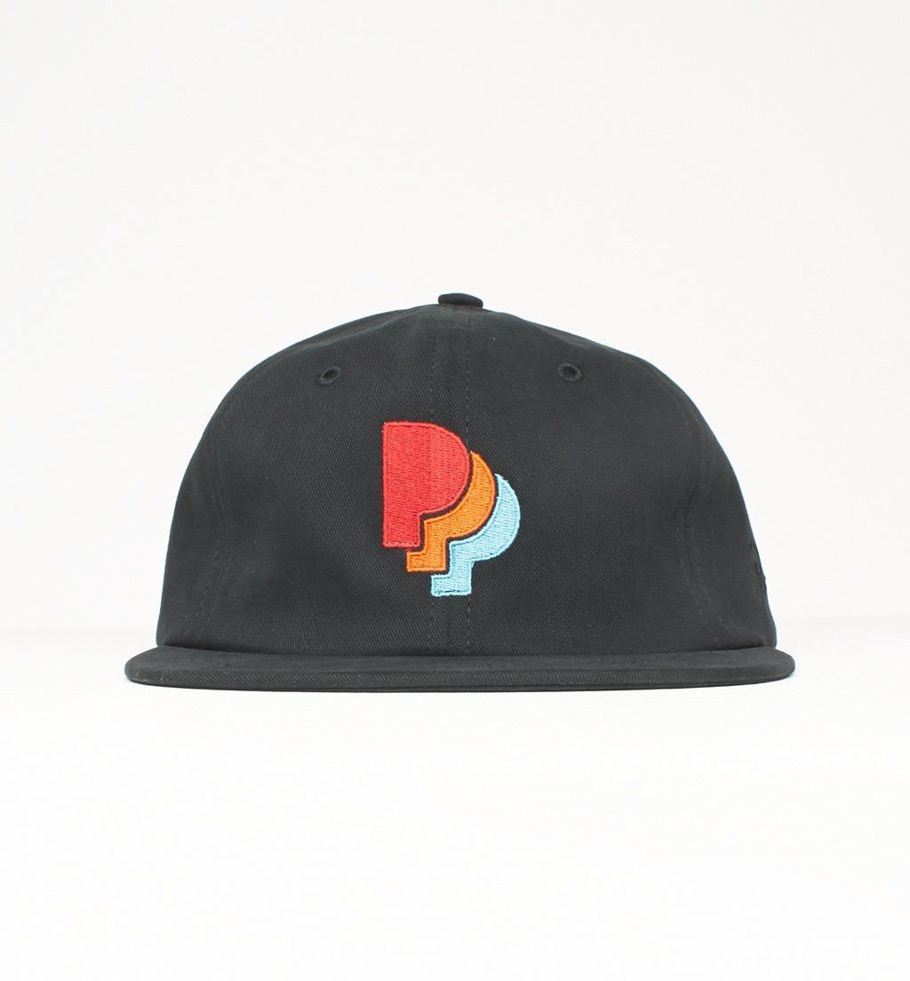 By Parra - 6 Panel Unconstructed Hat PPParra - Black  7389b88fd98