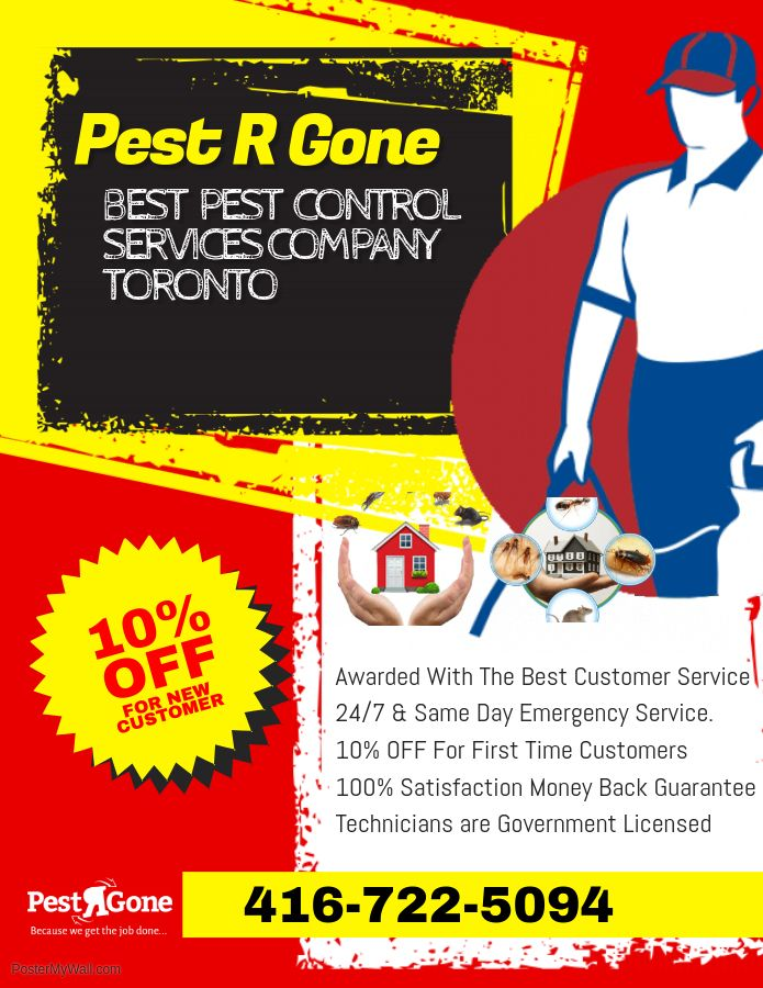 Pestrgone is an experienced pest control company in