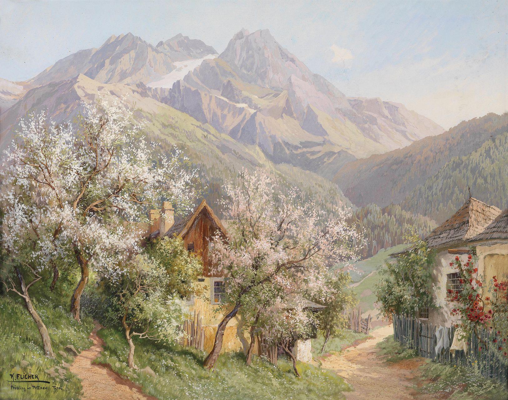 входе картина альпийская идиллия русская блондинка получает
