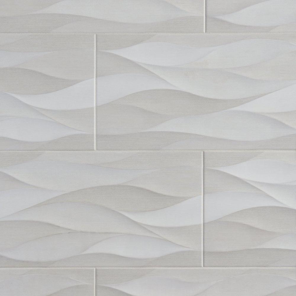 Idole Tear Gray Ceramic Wall Tile 12in X 24in