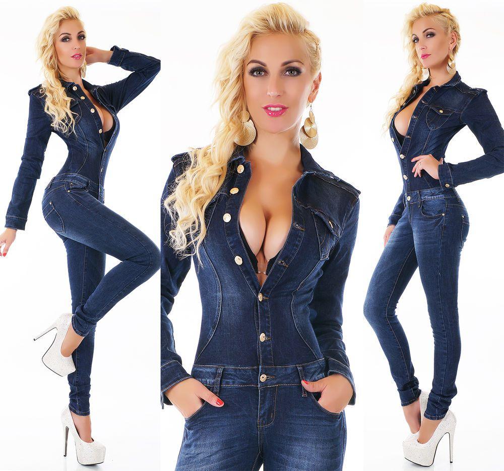 XS//S//M//L//XL Women/'s Sleeveless Stretch Denim Jeans Jumpsuit Overall