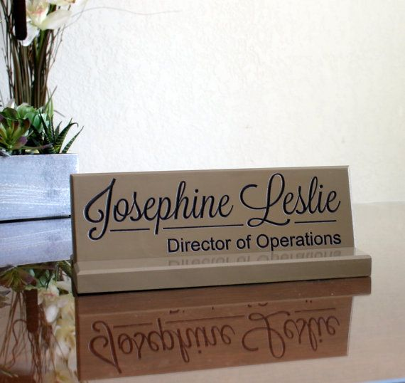 Desk Name Plate Office Sign Engraved Business Professional Doctor Lawyer Judge Corporate Executive Desk Name Plates Door Name Plates Office Signs