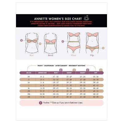 0bbd96b12446f Annette Women s Faja Extra Firm Control Latex Back and Front Waist Cincher  - Black Xxxl