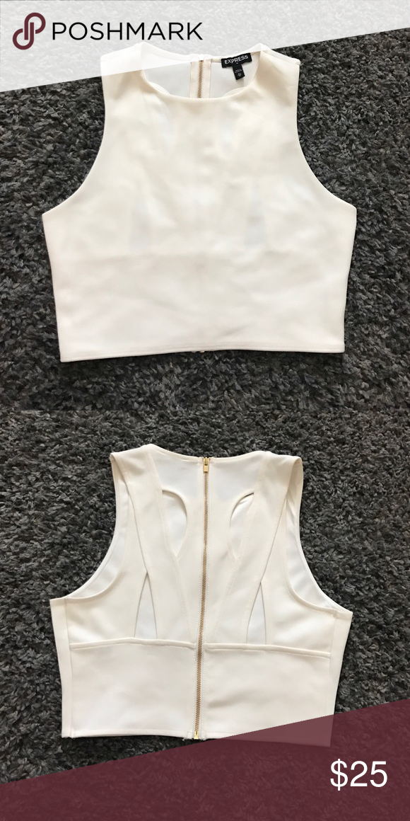f96d52de84a0a Express Crop Top Cream white
