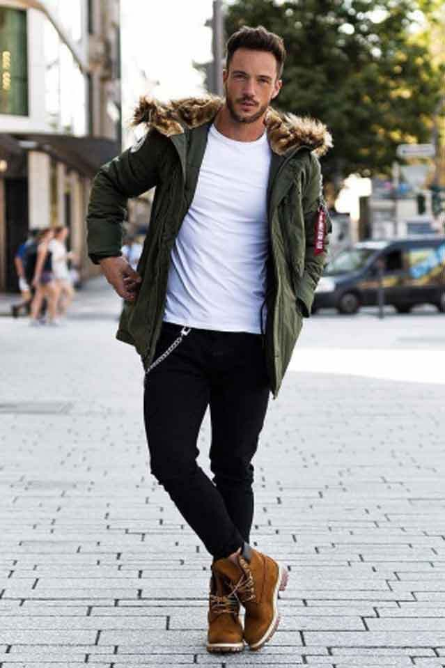 outfits timberland hombre