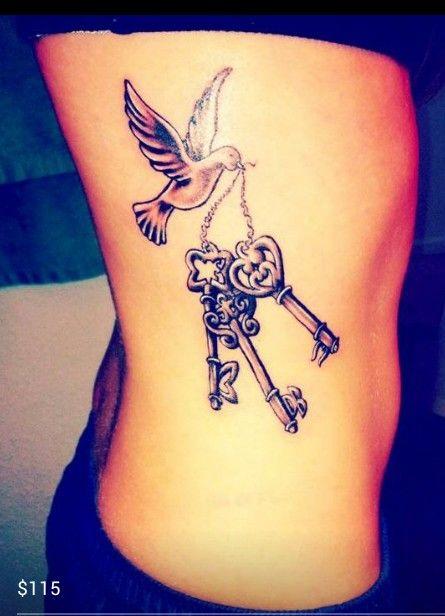 46 impressive and peaceful dove tattoo designs side
