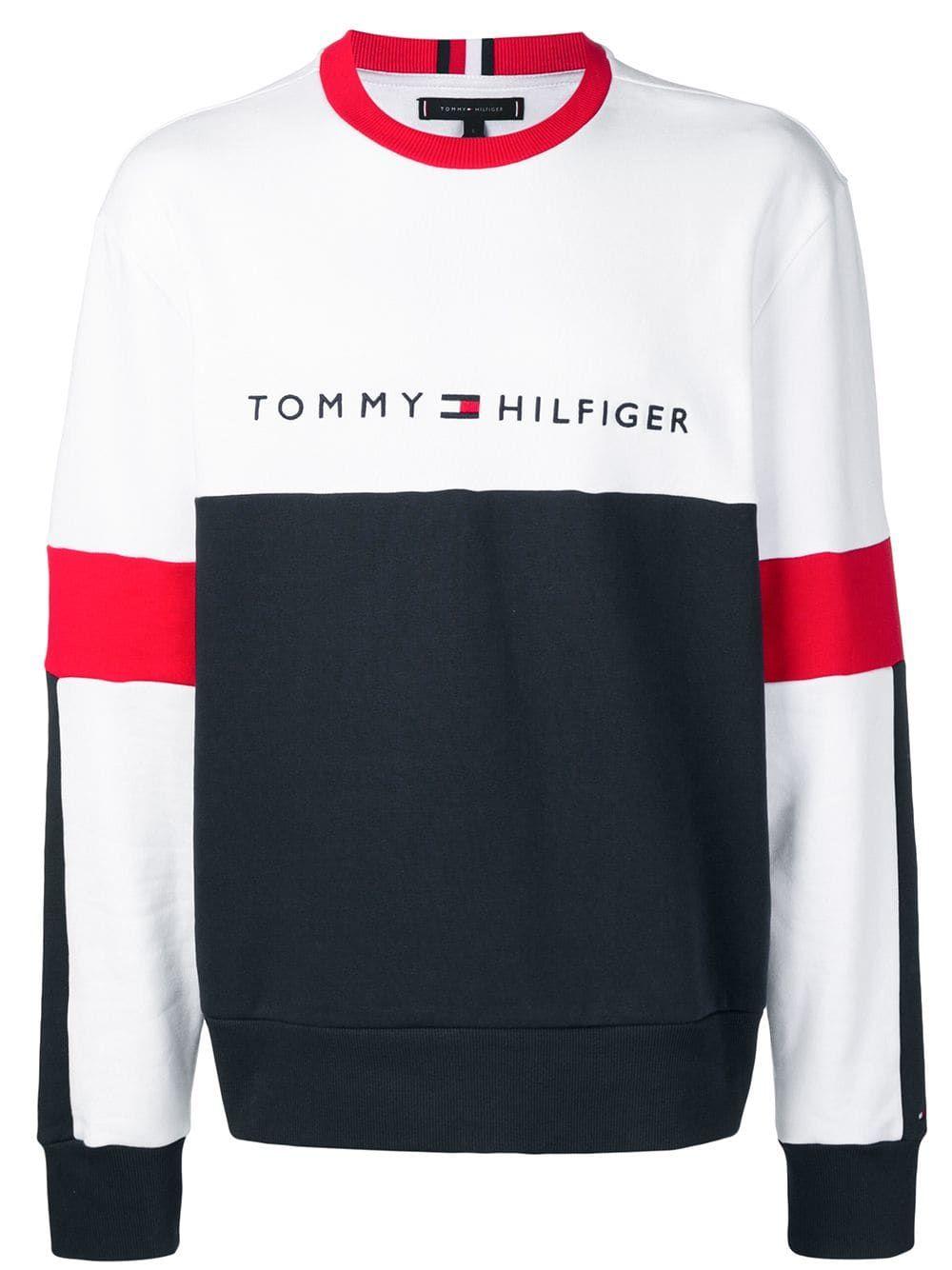 Tommy Hilfiger Tommy Hilfiger Logo Embroidered Sweatshirt Blue Tommyhilfiger Cloth Embroidered Sweatshirts Tommy Hilfiger Sweatshirt Mens Sweatshirts [ 1334 x 1000 Pixel ]