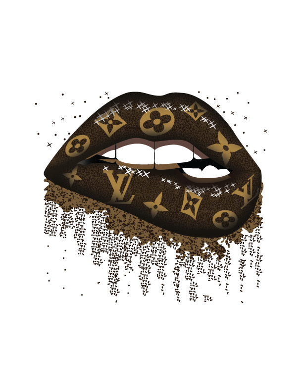 Louis Vuitton Dripping Lips Lv Posh Life Fancy Svg Png By Creative Creations 4 99 Usd In 2020 Dripping Lips Glitter Wine Glasses Svg