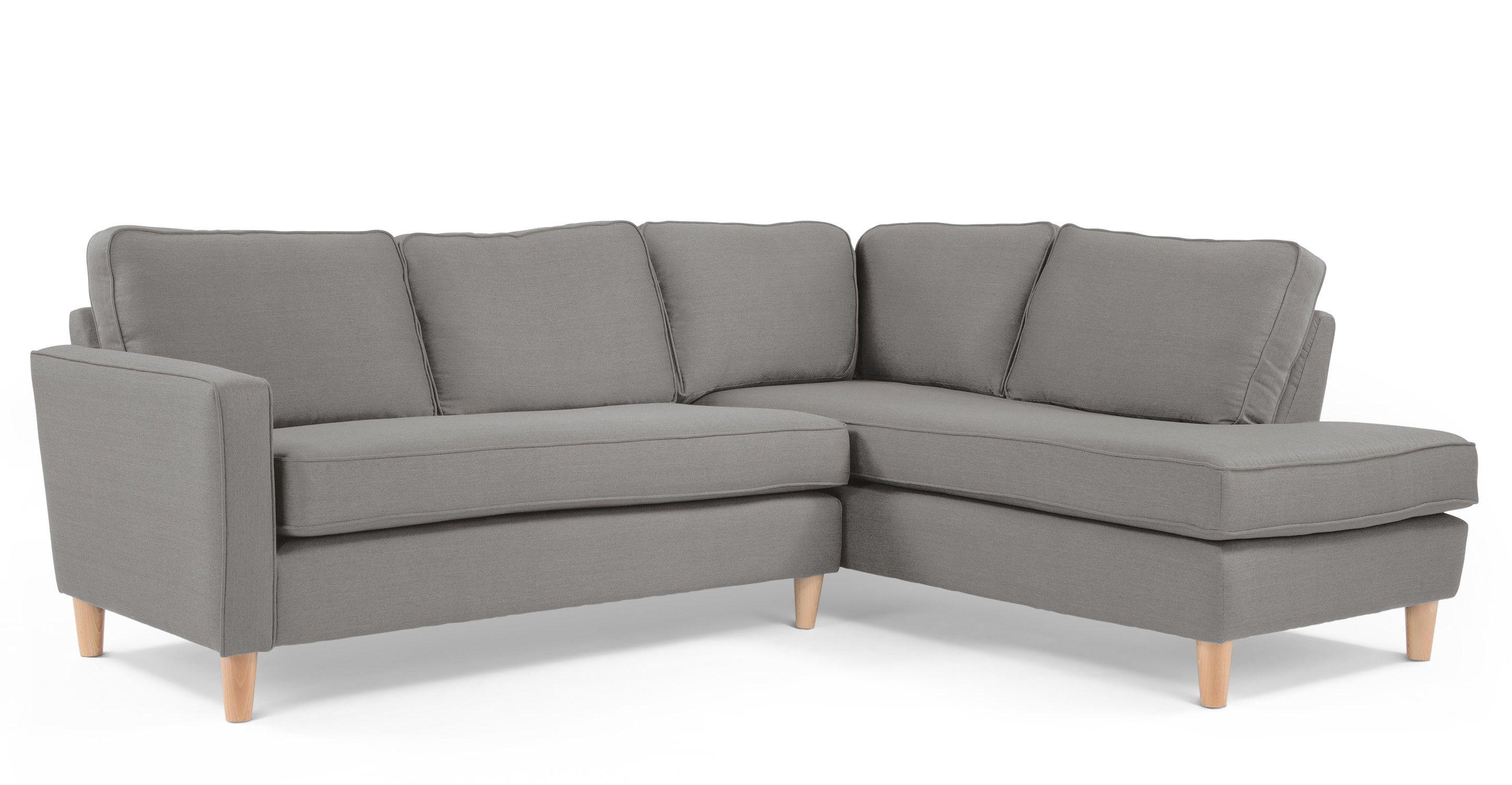 Lugano Right Hand Facing Corner Sofa Group In City Grey Made Com Corner Sofa Sofa Corner Sofa Bed