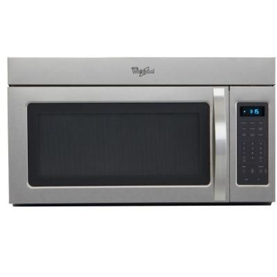 Whirlpool 1 7 Cu Ft Over The Range Microwave In Stainless Steel Wmh31017as