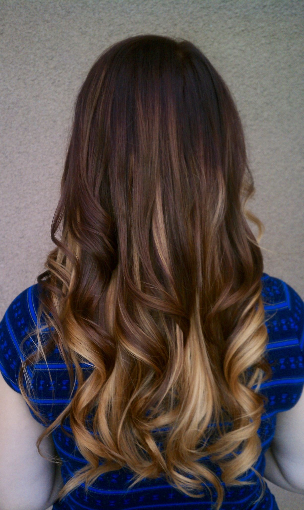 Ombré with red and blonde