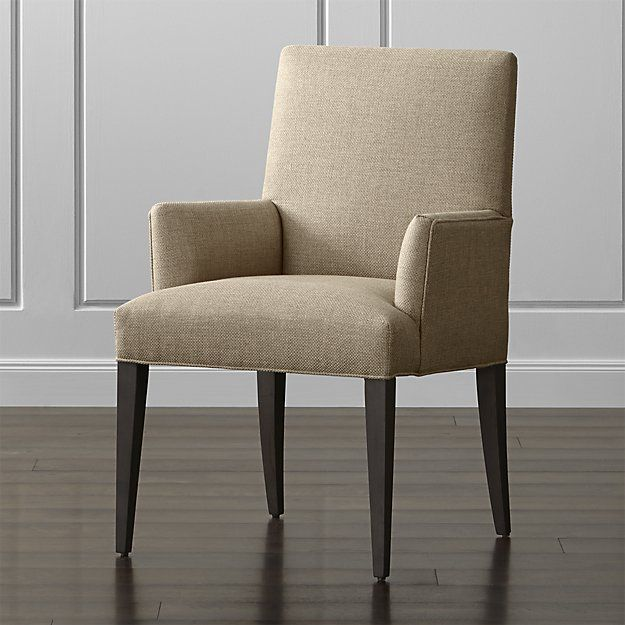 Miles Upholstered Dining Arm Chair With Images Upholstered