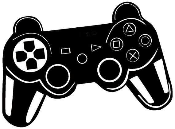Ps Controller Gamepad Bedroom Wall Art Sticker By