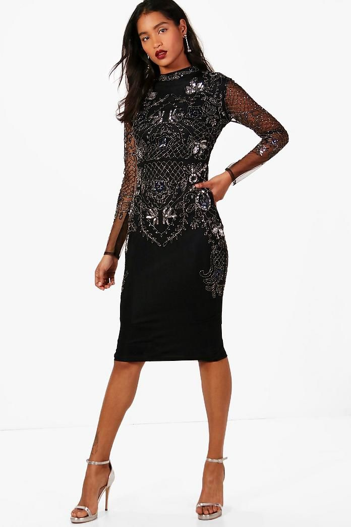 250e1d074c Boutique Embellished Midi Dress in 2019 | F O R M A L S | Dresses ...