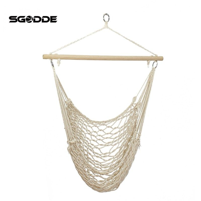 sgodde outdoor hammock chair hanging chairs swing cotton rope   swing cradles kids adults outdoor indoor sgodde outdoor hammock chair hanging chairs swing cotton rope        rh   pinterest